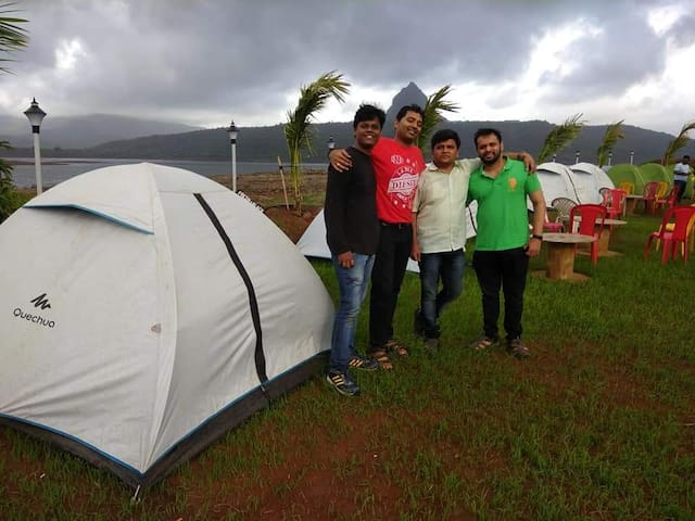 Camping pawna lake Includes     Tent     Snacks And Tea     Barbeque     Sport Activities     Campfire     Unlimited dinner (Veg And Non-Veg)     Breakfast on next day
