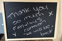 Message from a happy guest.