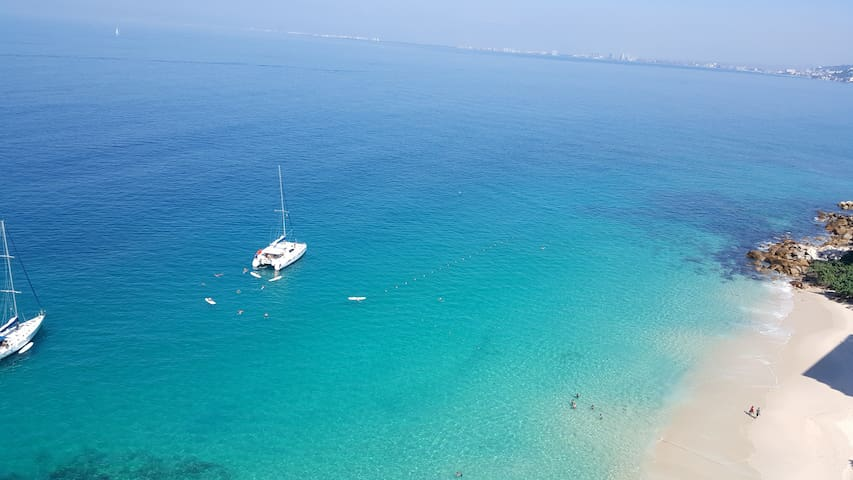View from your Balcony. Beautiful clear water, best spot for snorkeling in Vallarta.
