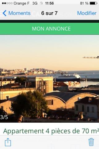 magnifique appartement vu sur la mer - Marseille - Apartmen