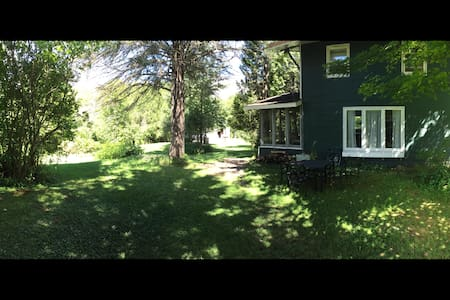 One acre waterfront Chalet