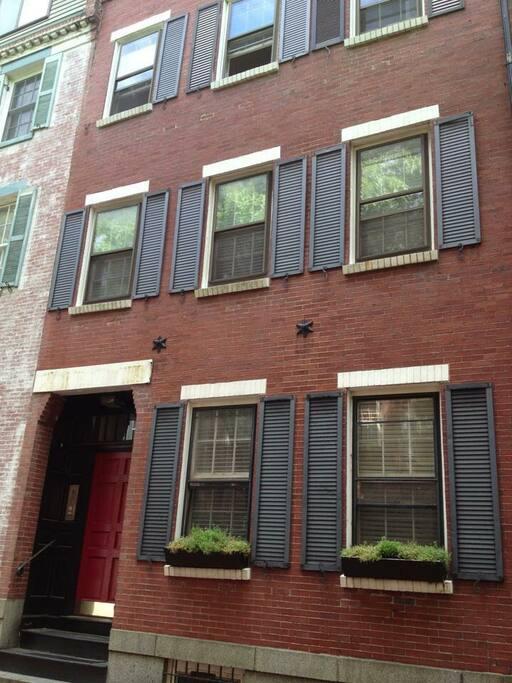 Historic Boston brownstone.