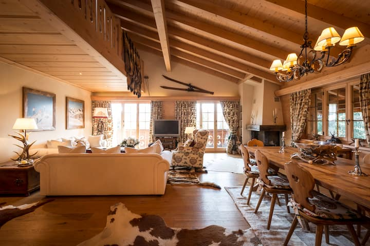 Luxury Duplex Apartment Swiss Alps Gstaad Sleeps 8