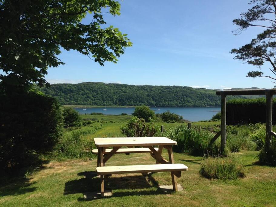 Back garden overlooking Seil Sound