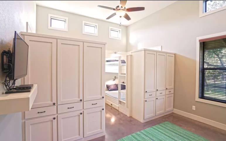Room 2: sleeps 10, with your own bathroom and lots of closet space!