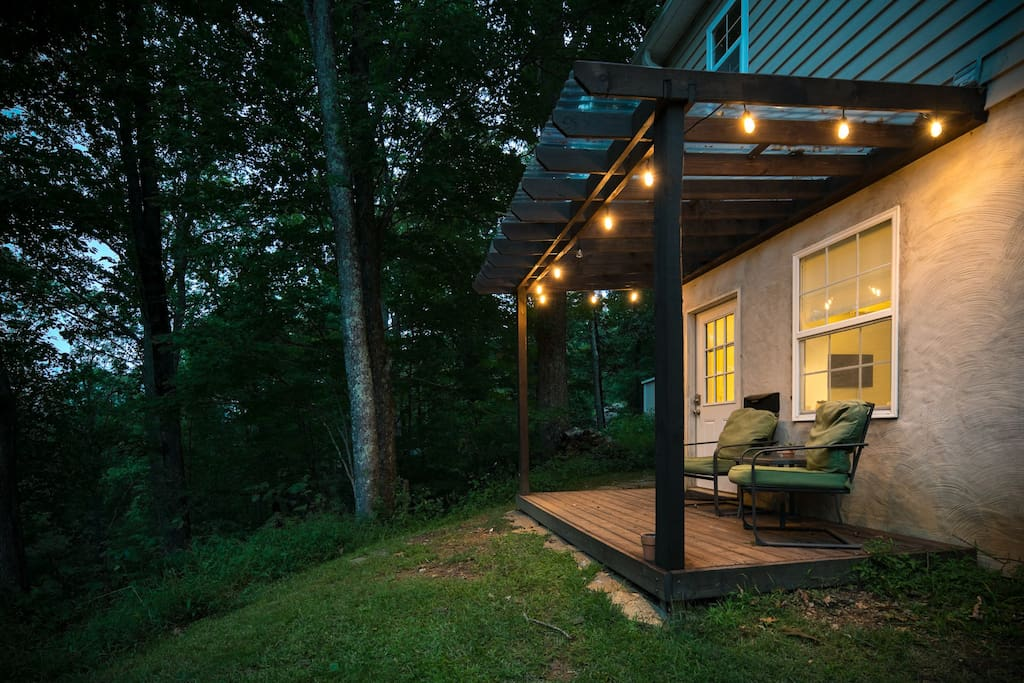 Enjoy a nice evening on the covered private deck.