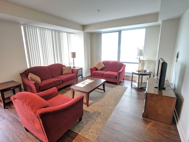 Large One Bedroom with Balcony Over Charles River