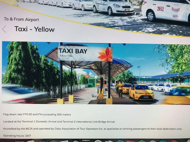 Yellow Taxi from Airport