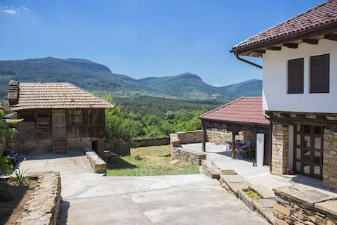 Tradionnal bulgarian house with gorgeous view