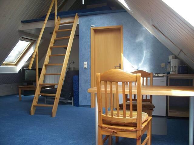 Well-lit attic flat