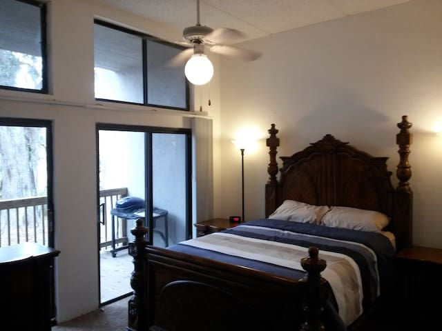 Luxurious private suite with deck, 8 mins to UF - Gainesville - Apartamento