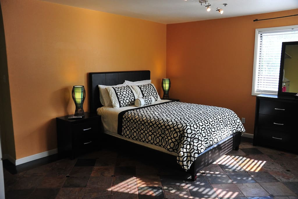 Very comfy bed with a memory foam topper.
