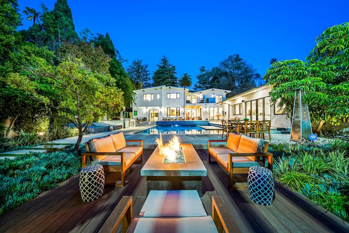 The Beverly Hills Estate & Tennis Court