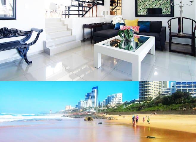 Umhlanga Beach 5 Sleeper garden & pool Wifi & Dstv