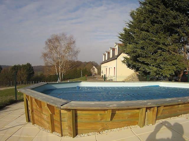 L'écrin de la Martinière Gite 3* swimming pool - Brèches - Appartement