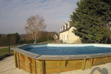 L'écrin de la Martinière Gite 3* swimming pool - Brèches - Apartmen