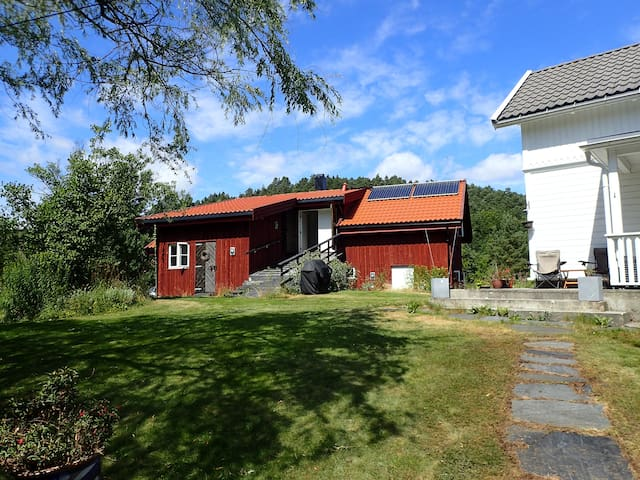 The apartment is situated in a calm and secluded area