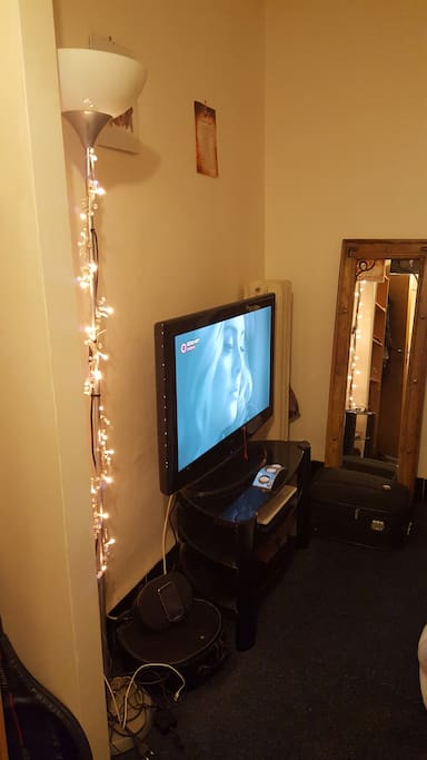 Bedroom with TV and internet