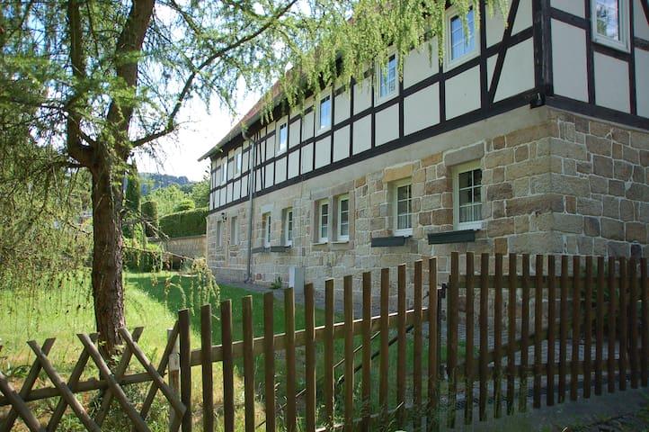 Helle Ferienwohnung im Herz d. Sächsischen Schweiz