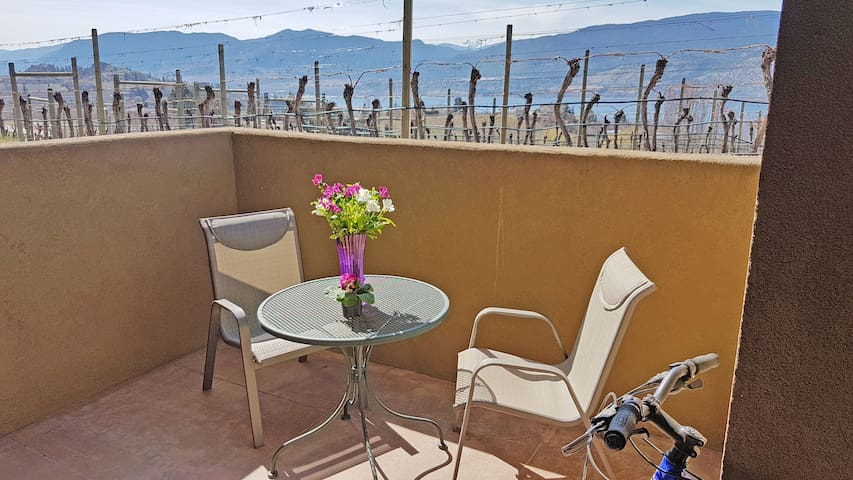 Private enclave to enjoy a cup of coffee in the morning or glass of wine, anytime.