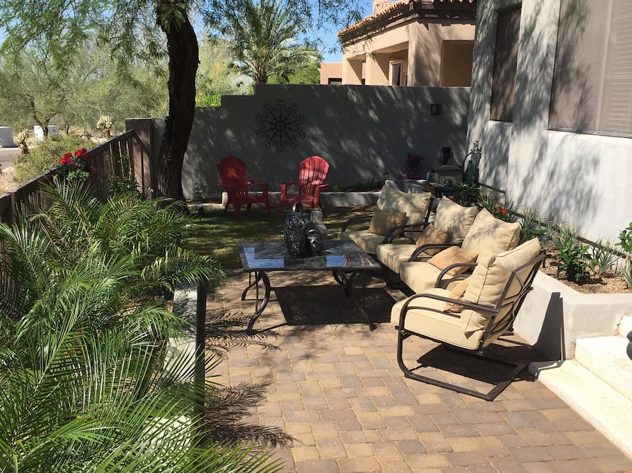 If you want some company you can enjoy our patio and take in the beauty of Scottsdale mountains.