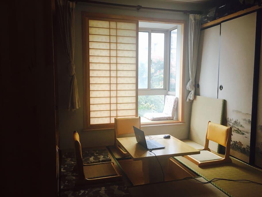 日本榻榻米设计,冬暖夏凉,很温馨,可做书房和独立卧室!