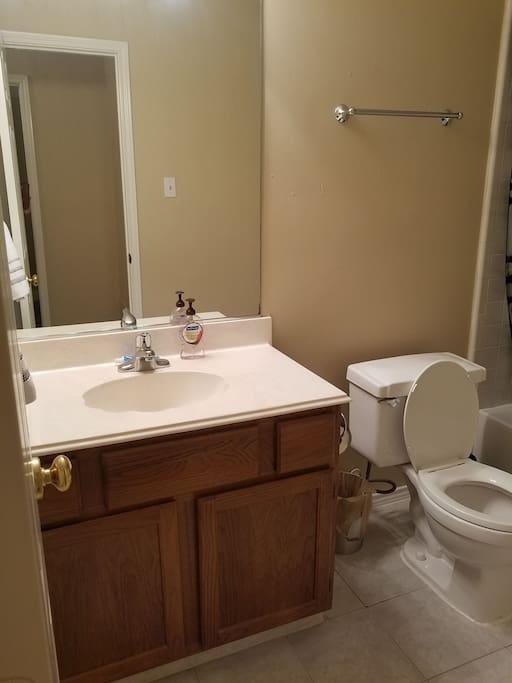 Upstairs restroom
