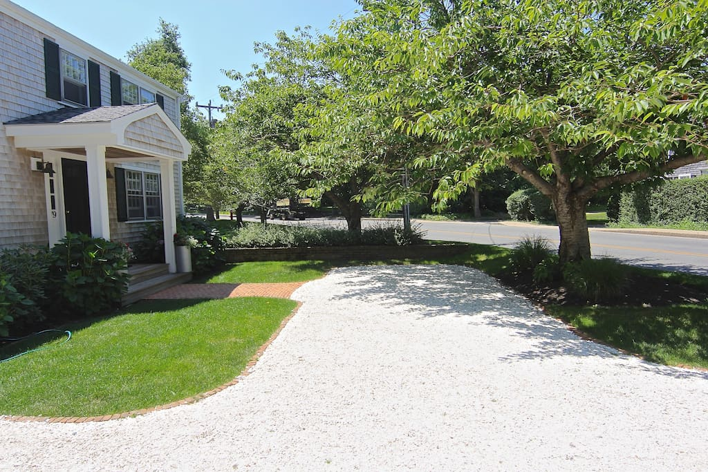 Beautiful sea shell driveway