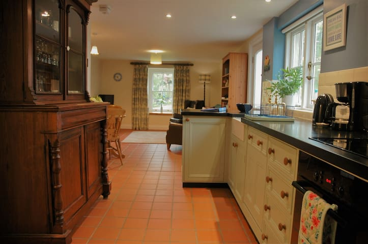 The well equipped bespoke kitchen.  Very high standard of accommodation and great value.