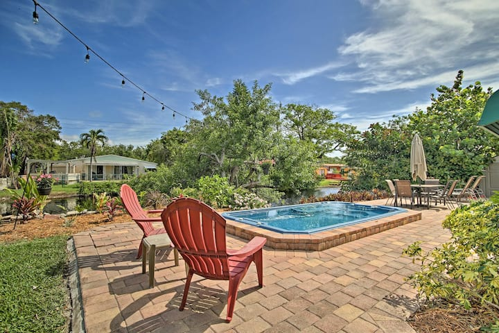 Home on Canal w/ Pool, 2.2 Mi to Hollywood Beach!