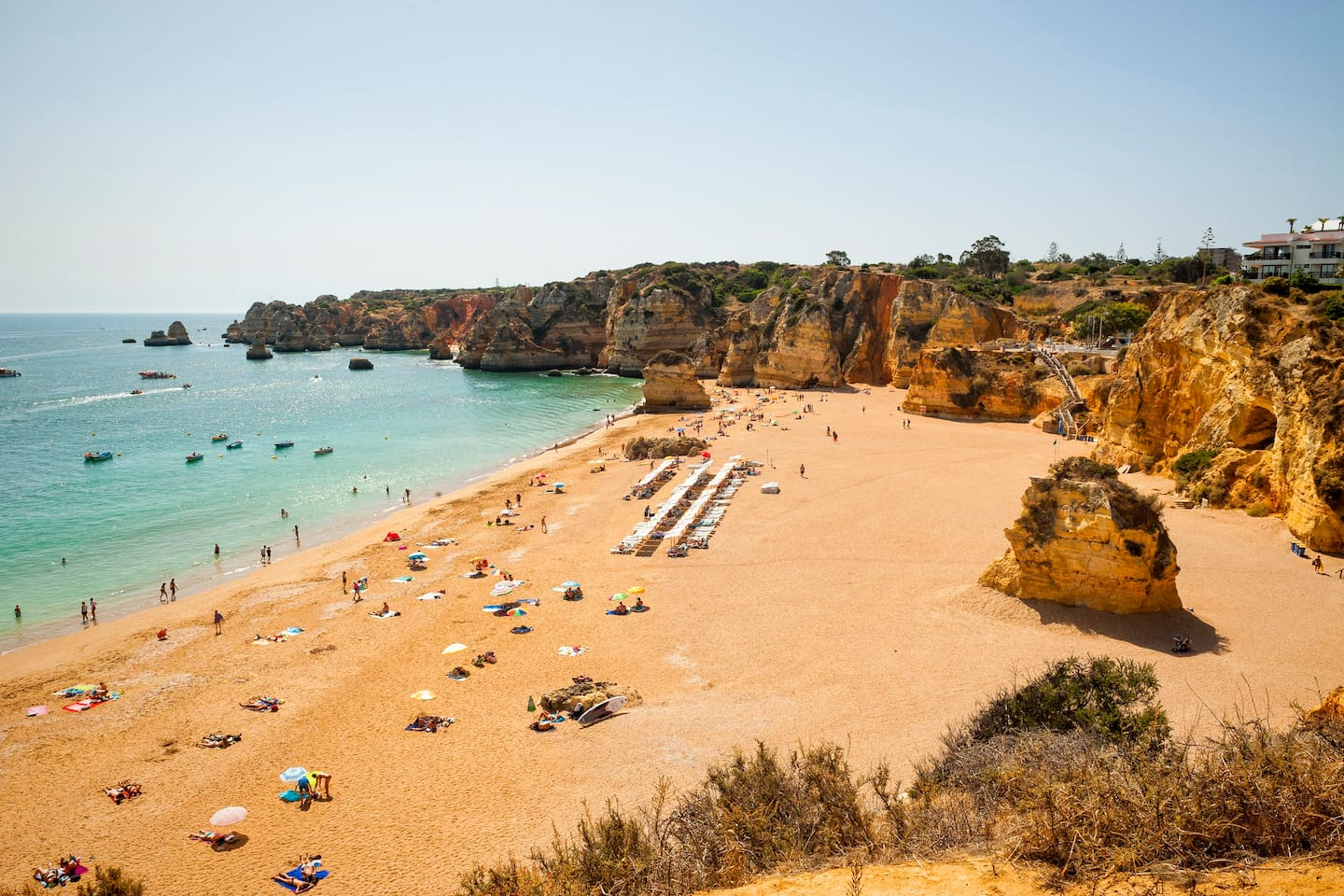 Stunning Dona Ana Beach just 50 meters from our Apartment