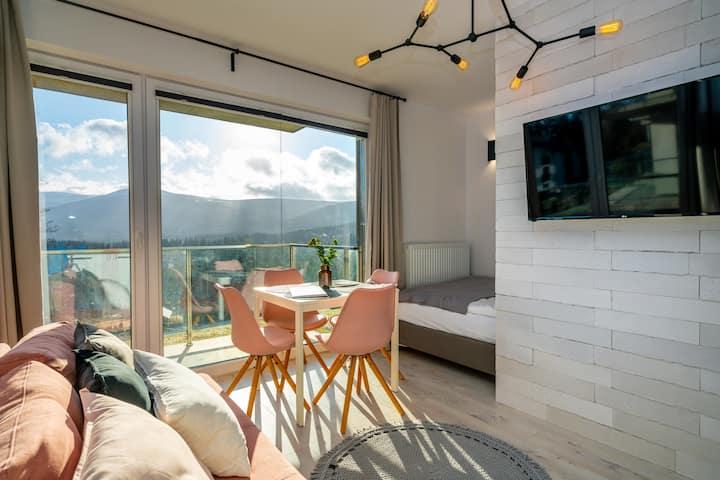RentPlanet - Izerska II Studio with mountain view