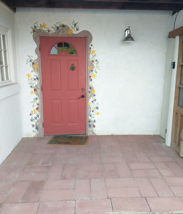 Entry in front of the driveway