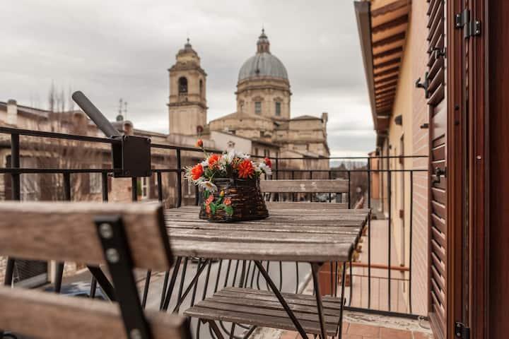 Camera matrimoniale con vista sulla Basilica