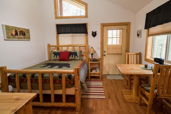 Black Bear Den Room in the Wilderness Cabin