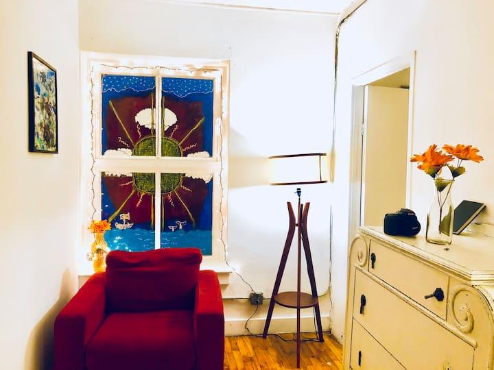 Cozy Room in Massive Bohemian Art Loft