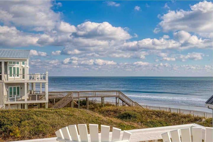 Star Struck- Oceanfront B/Pool/Steps from Beach!