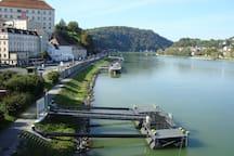 Danube (walking distance)