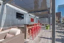 outdoor bar and lounge