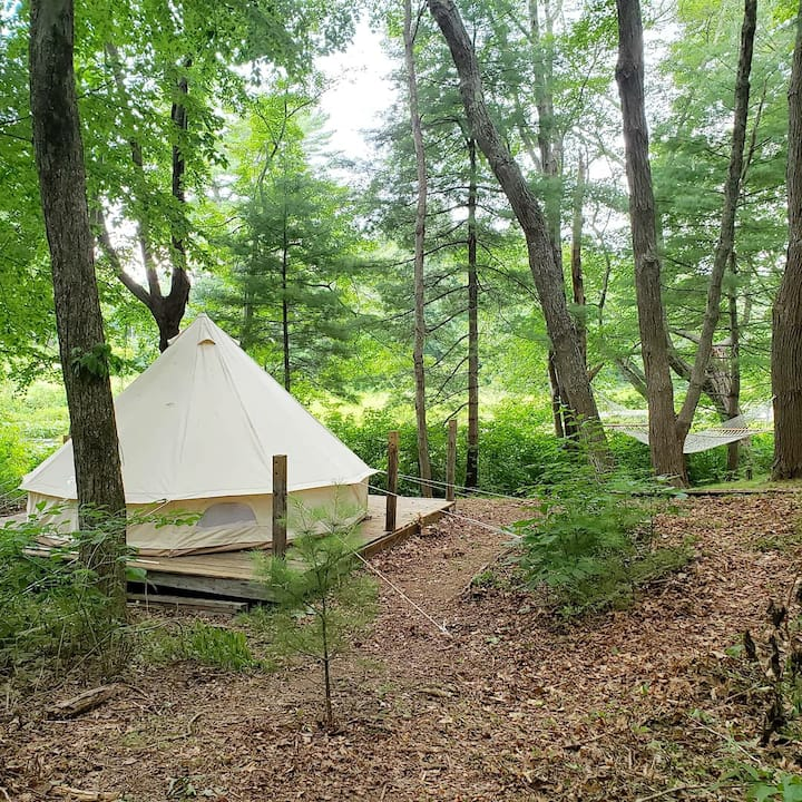Canvas Bell Tent River and Farm Experience