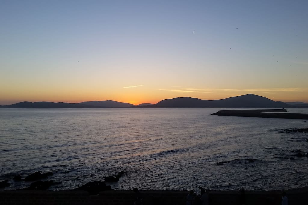 tramonto sulla baia dal terrazzo