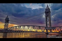 Train bridge on Cape Cod Canal