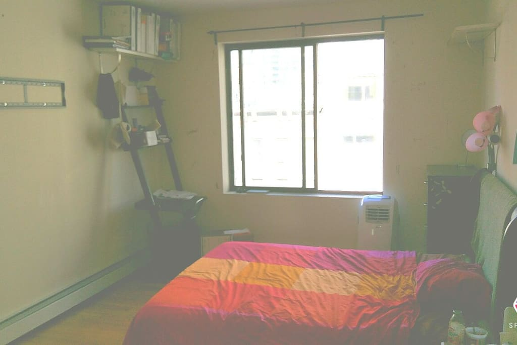 Your bedroom, with street view.