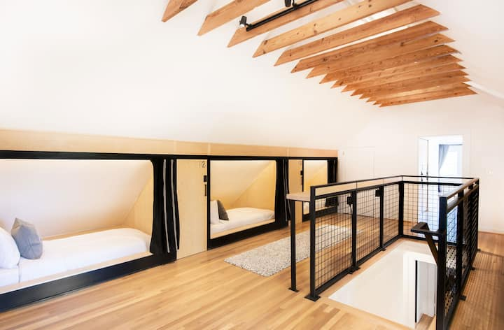 Twin XL Pod in 10-Person Mixed Shared Rm in Hostel