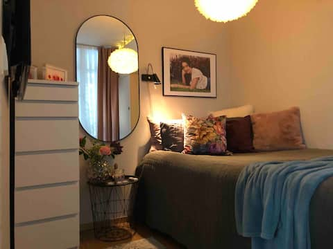 Cosy room 50 m from train station