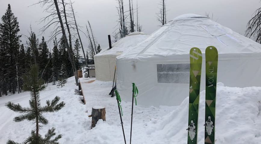 The yurts in the Lost Trail Backcountry.