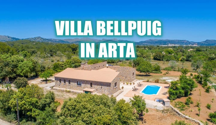 Finca BELLPUIG for 4 people with Pool in Arta