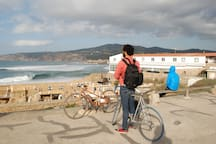 Guincho beach, next to Cascais. Easy to reach by train+bicycle.