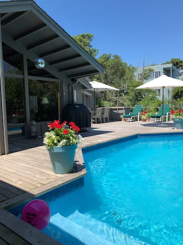 Fire Island Pines mid-century mod #2, private deck