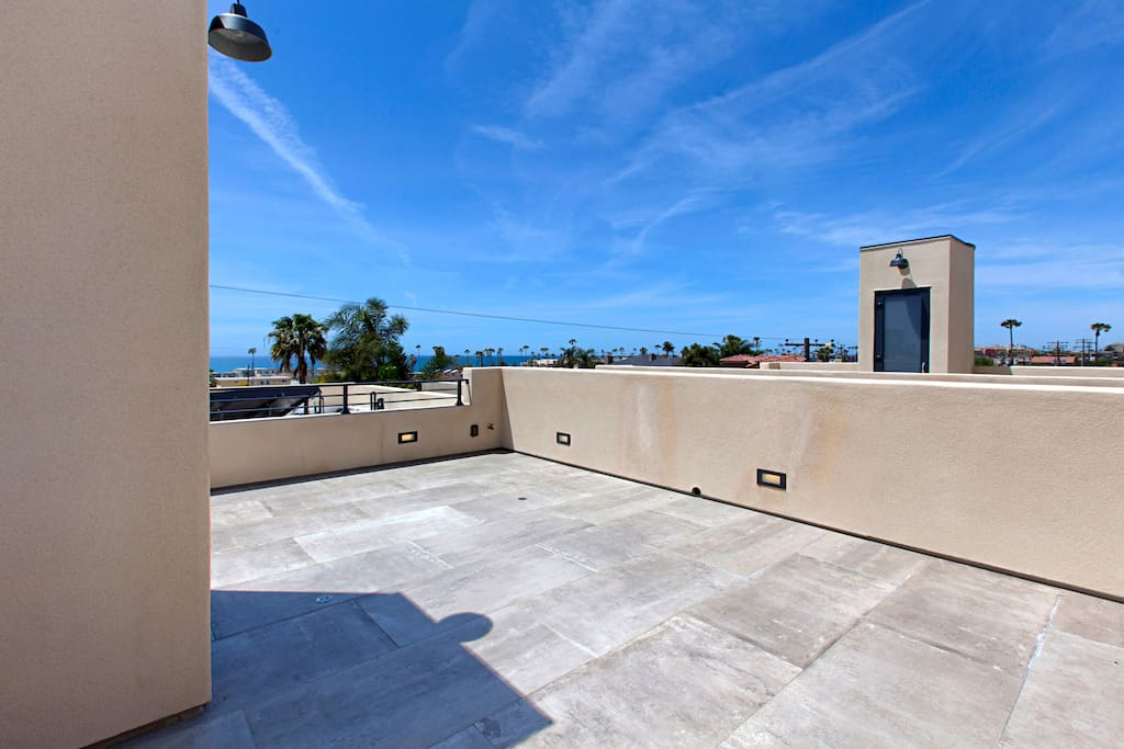 rooftop patio with panoramic views